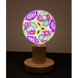 LAMPARA DECORATIVA LED SILICONA ROSA PURPURA