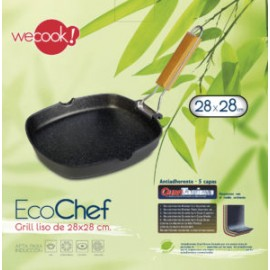 GRILL LISO ECOCHEF 28x28CM WECOOK!